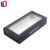 Book shaped magnetic closure matte black cardboard box with clear window