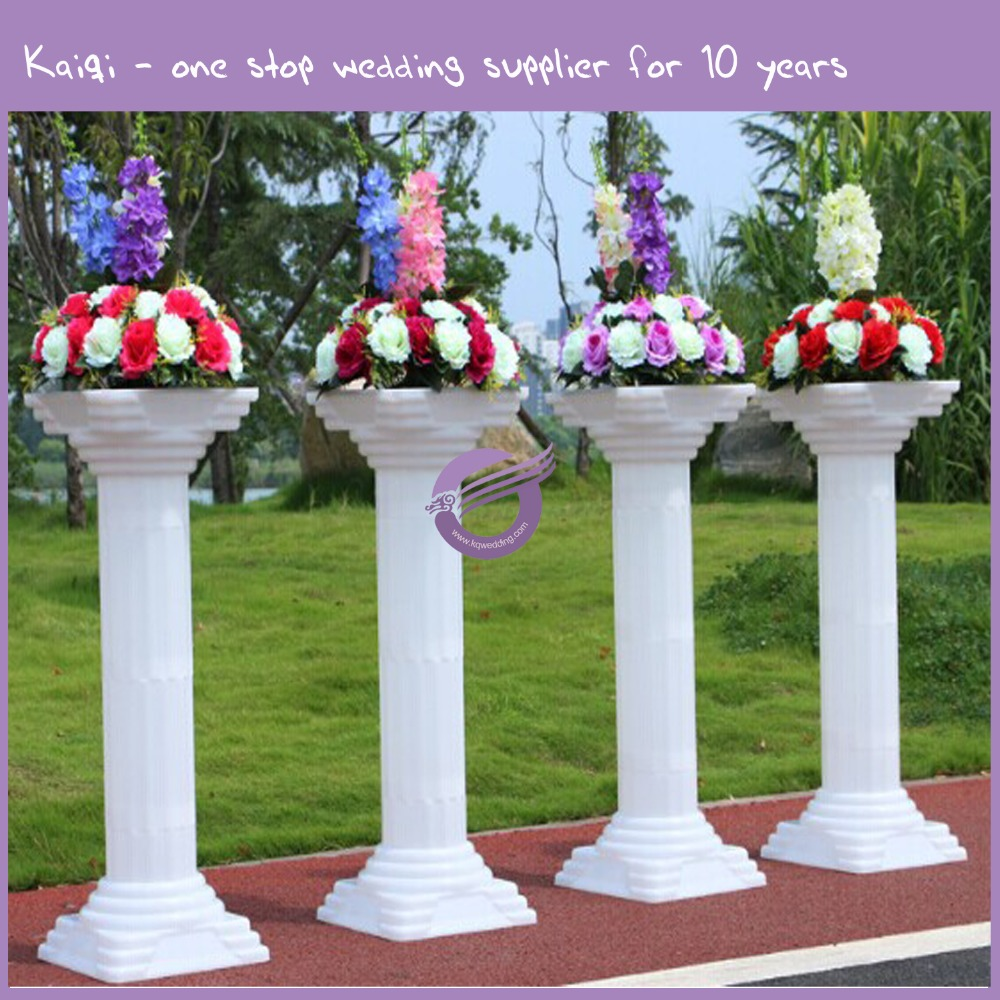 k5877 white plastic wedding pillars columns for sale