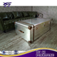 Top quality aluminum covered tea table trunk coffee table for sale
