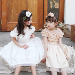 Wholesale Chinese New Year Kids Fancy Girls Children Wedding Dresses