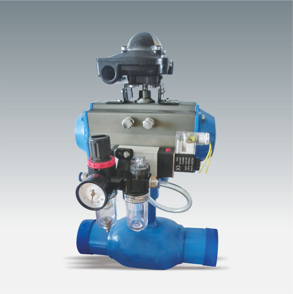 Hot Sale Water Gas Oil Medium Flow Control Pneumatic Fully Welded Ball Valve