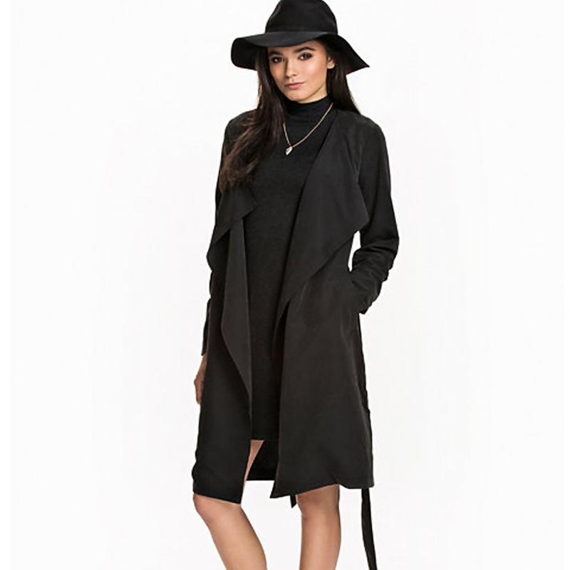 Black trench coat for women