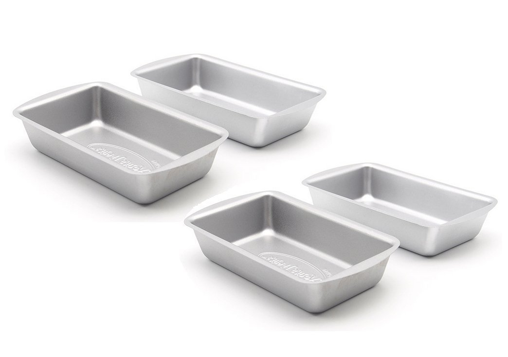 """Astra Gourmet Commercial Grade Nonstick Carbon Steel Mini Loaf Pan Set, 4 Count(5 1/2""""x3""""x1"""")"""
