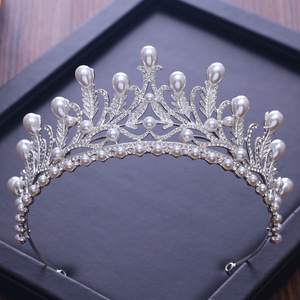 2018 trending products wedding dress jewelry pearl crown tiaras bridal headpiece
