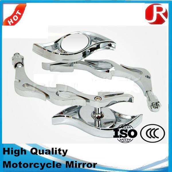 High Quality Universal Motorcycle ABS Small Rearview Chrome Scooter Mirror
