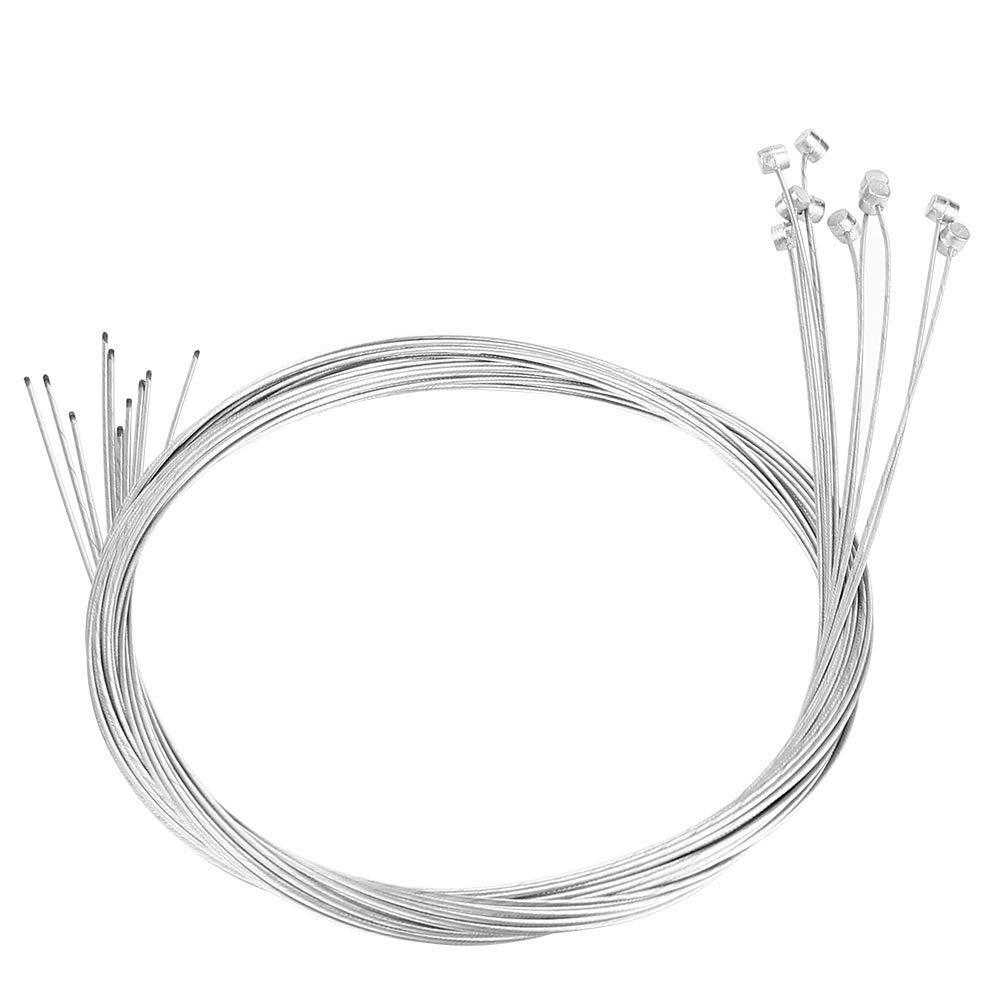 Asixx Bike Brake Cable, 10pcs Bike Brake Cord or Bicycle Braking Line/Cable, Brake Cable Suitable for Both Road Bikes and Mountain Bikes, 2 Meters in Length