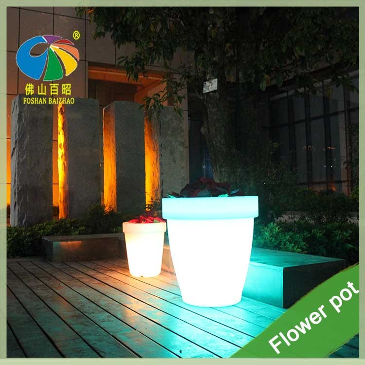16 Colors Chang High Tech Garden Led Illuminate Glowing Flower Pot Outdoor  Led Pot Lights/led Plastic Flower Vase With Remote   Buy Led Flowing  Flower,Led ...