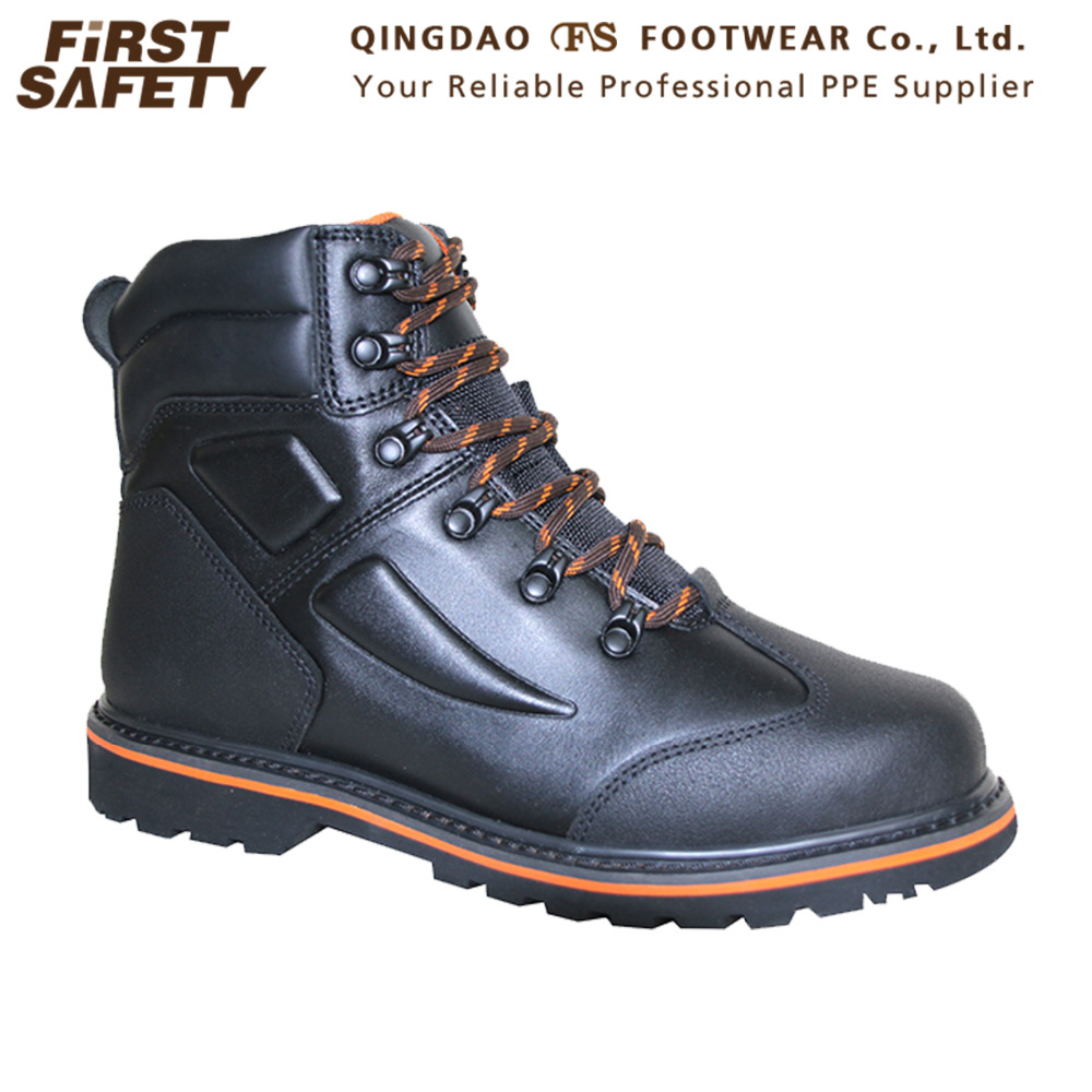 FS1319 Ankle Support Breathable Pu Safety Work Shoes