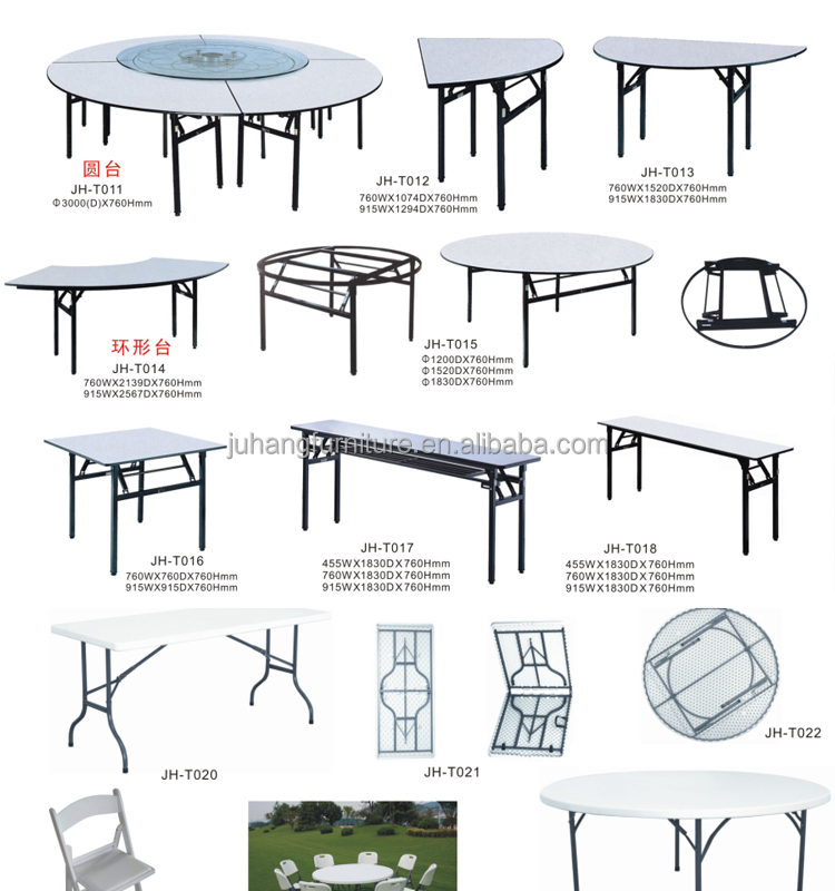 All Kinds Of Wooden Folding Banquet Dining Table