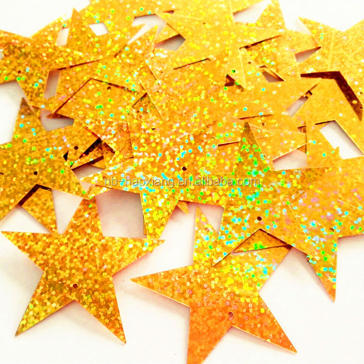 Dionysia festive decorations 45mm extra large five-pointed star paillette/sequin/table confetti/table scatter