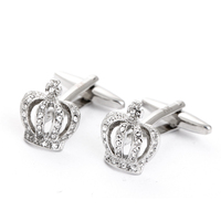 New Luxury Crwon Cufflinks Dianmond Custome Cuff link