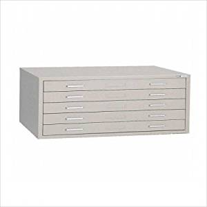 "C-Files 5-Drawer Filing Cabinet Size: 15.38"" H x 40.75"" W x 28.38"" D, Finish: White"