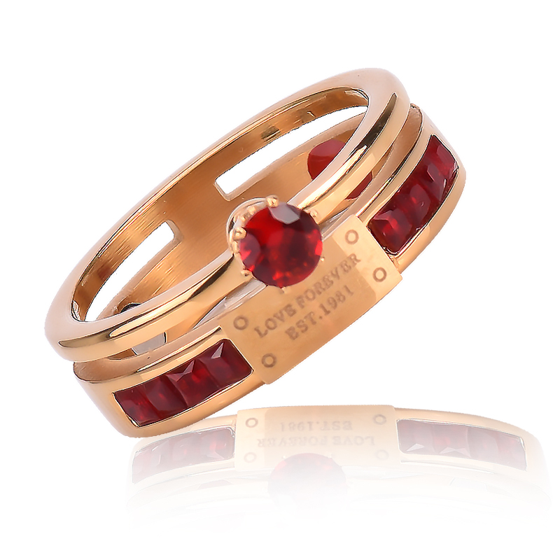 High quality Negative Ion Germanium Couple Ring for christmas gifts