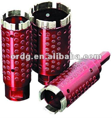 Segment/Turbo Core Bit with Side Diamond Coated Spots