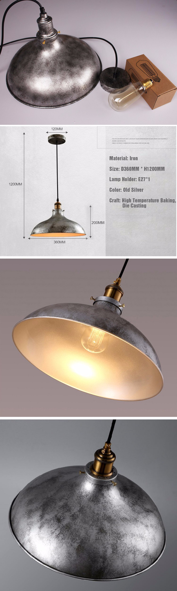 old industrial lighting. UFO Shape Professional China Factory Manufacture Industrial Lighting Vintage Hanging Lamp Chandelier Old