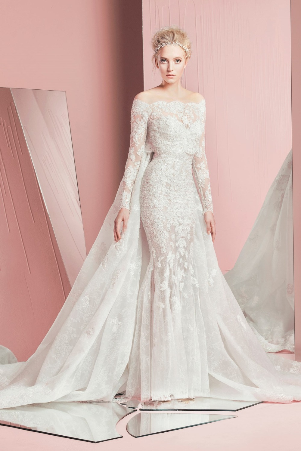2016 Charming Two Piece Mermaid Wedding Bridal Gowns With ...