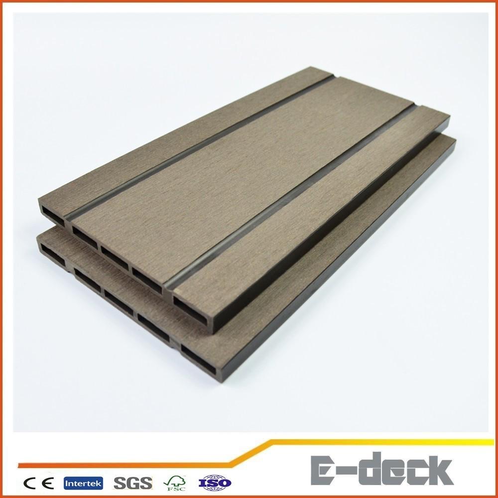 Pvc wpc material waterproof anti slip outdoor deck floor for Non slip composite decking