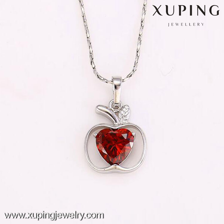 31843 XUPING fahsion amethyst rhinestone apple shaped pendant for women