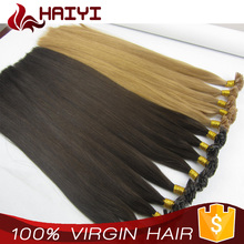China Supplier No Heat No Glue Safe Healthy virgin remy hair extensions I tip hair