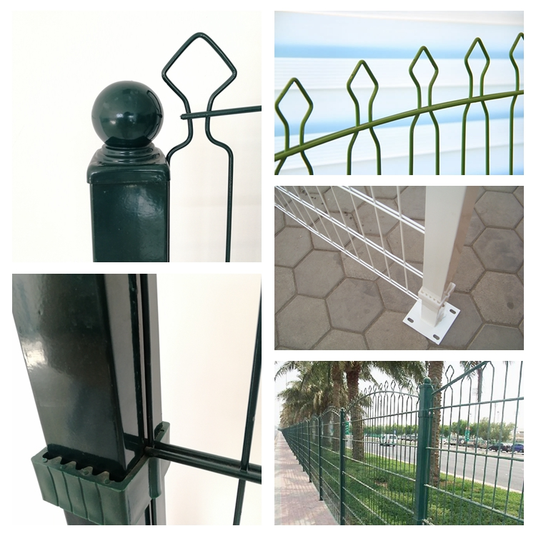 Factory Supply Powder Coated Welded Double Horizontal Prestige Fence for Garden
