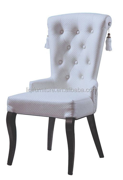 white PU leather America style upholstered dining chair QL-B904
