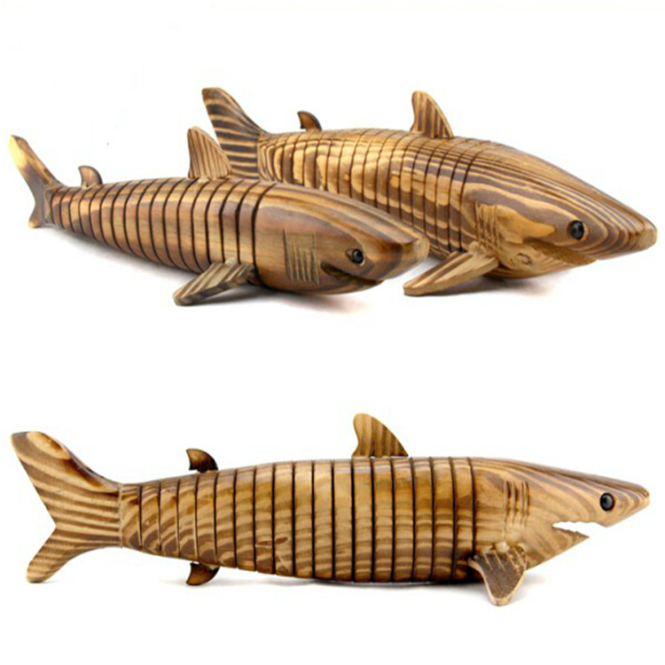 new style cheap price shark model durable decoration wooden wholesale art minds <strong>crafts</strong>