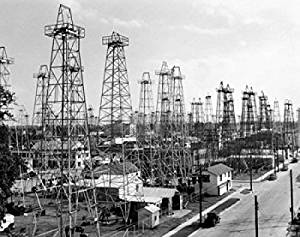 Oil drilling rigs at an oil industry, Kilgore, Texas, USA Poster Print (18 x 24)