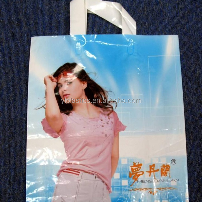 Custom Logo Printed Clothing Packaging Reinforced Plastic Die Cut