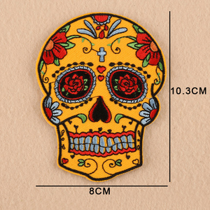 Punk Rock Skull Various Style Skeleton Iron On Biker Embroidery Patches for Clothes