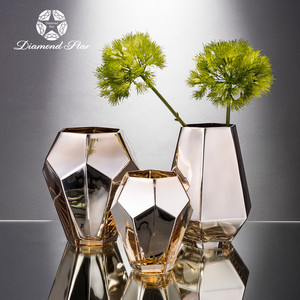 New Fashion Glass Flower Vase With Hole For Wedding