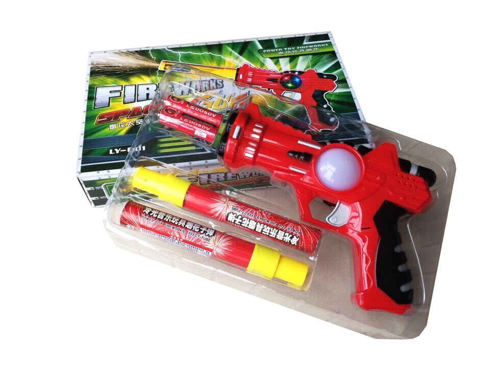 Toy Fireworks Space Gun Cold Fireworks 2016 Factory Produce Color Changeable