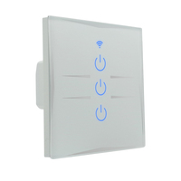 Waterproof touch panel switches home automation alexa led smart wifi light switch