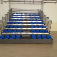 Indoor gym retractable grandstand bleachers
