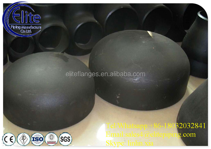 cs/ss sw/bw cap tube end caps seamless/weld/forged pipe fittings