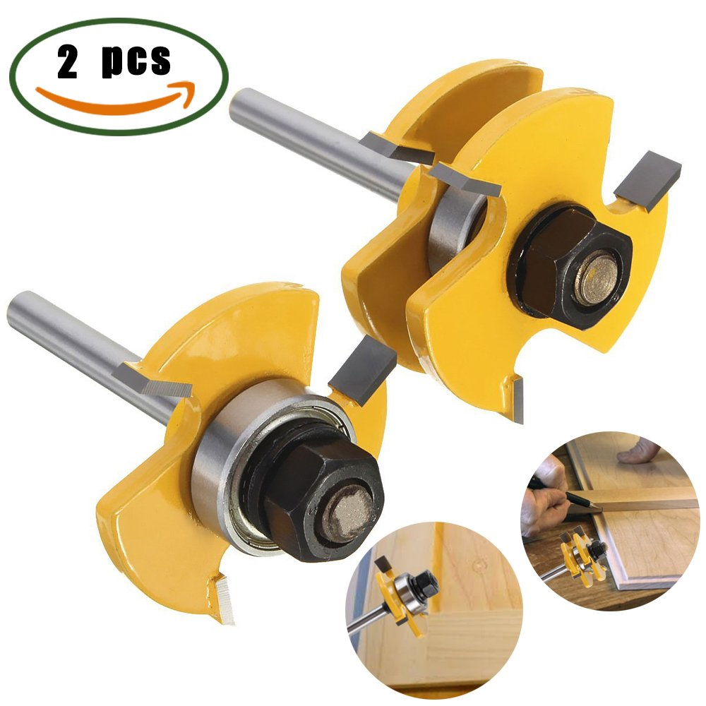 Buy Grooving Router Bit, Dayree 2pcs Tongue Groove Router Bit set