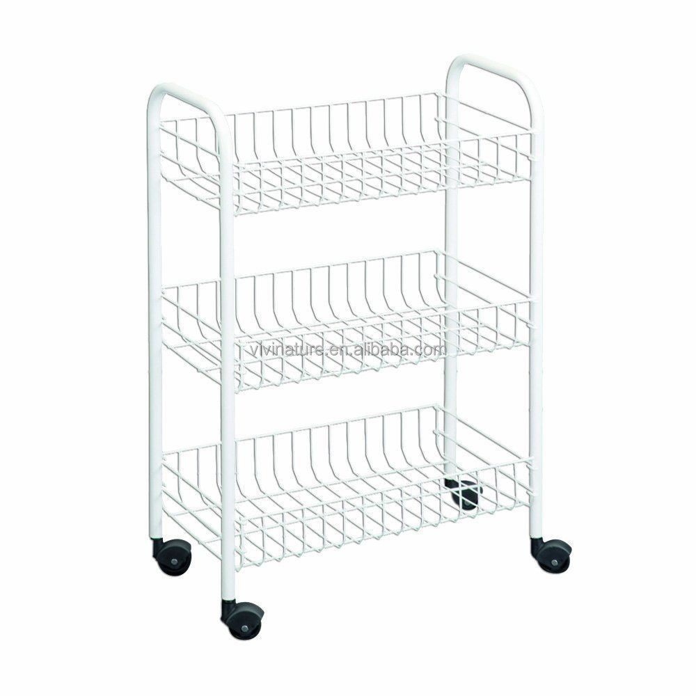 vivinature stacking Metal Steel Storage Basket Display Shelf Wire Rack