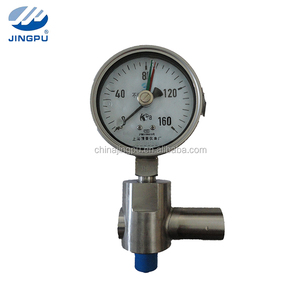 Kpa Double needle pressure gauge with over pressure protector