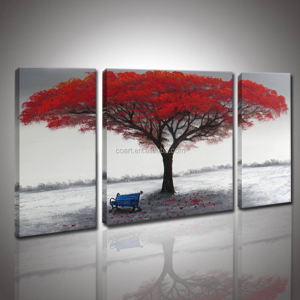 product gs moderne rode tree olie schilderij op doek