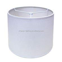 China bulk production hot selling white round fabric lamp shades for hotel