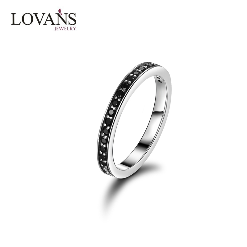 Wholesale Black Spinel Value 925 Silver Ring For Women Jewelry