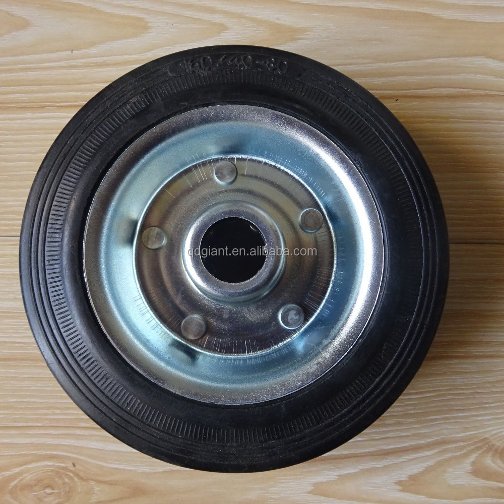 Small Wheel 6 Inch Solid Rubber Wheels