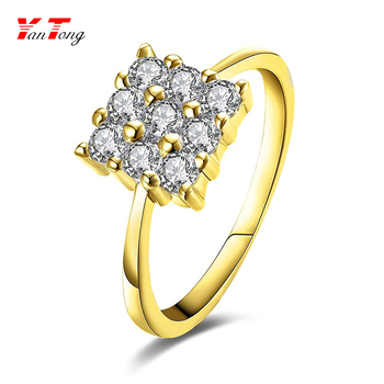 gold korean vintage flower piece rings unique ring color decorated shape victorian silver pcs alloy design three square p
