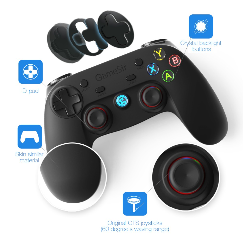 leading manufacture high quality game controller with built in battery