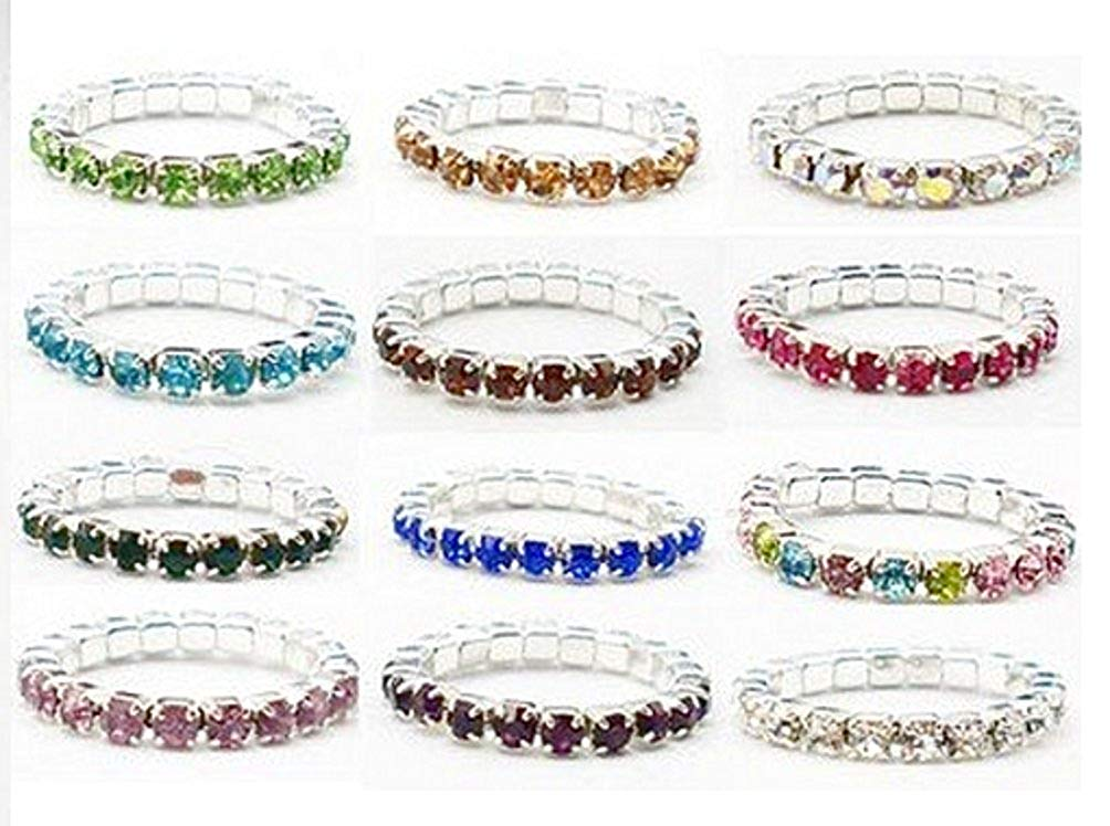Get Quotations · Charmed By Dragons Crystal Stretch Toe Rings Lot of 12 9ec880d1d77d