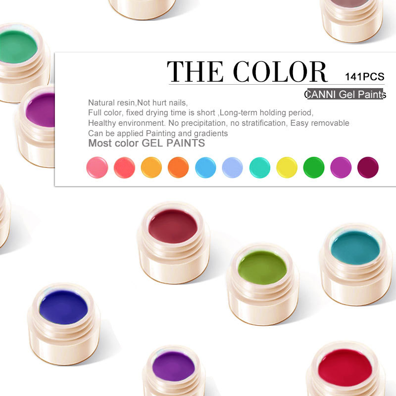 50618j Canni New 141 Colors Names Paint Gel Ink,Nails Design Gel Ink ...