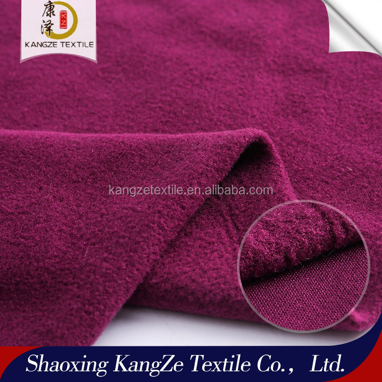 Knit with spandex fleece sportswear pique brushed PK brushed fabric