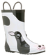 cow print rain boots with loop wellie boots wholesale fashion wellington boot