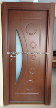Turkey Romania Pvc Wooden Glass Design Door