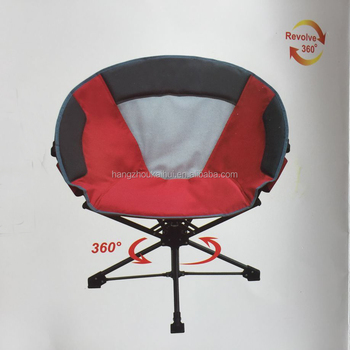 Swivel Camping Moon Chair With Revolve 360 Degree