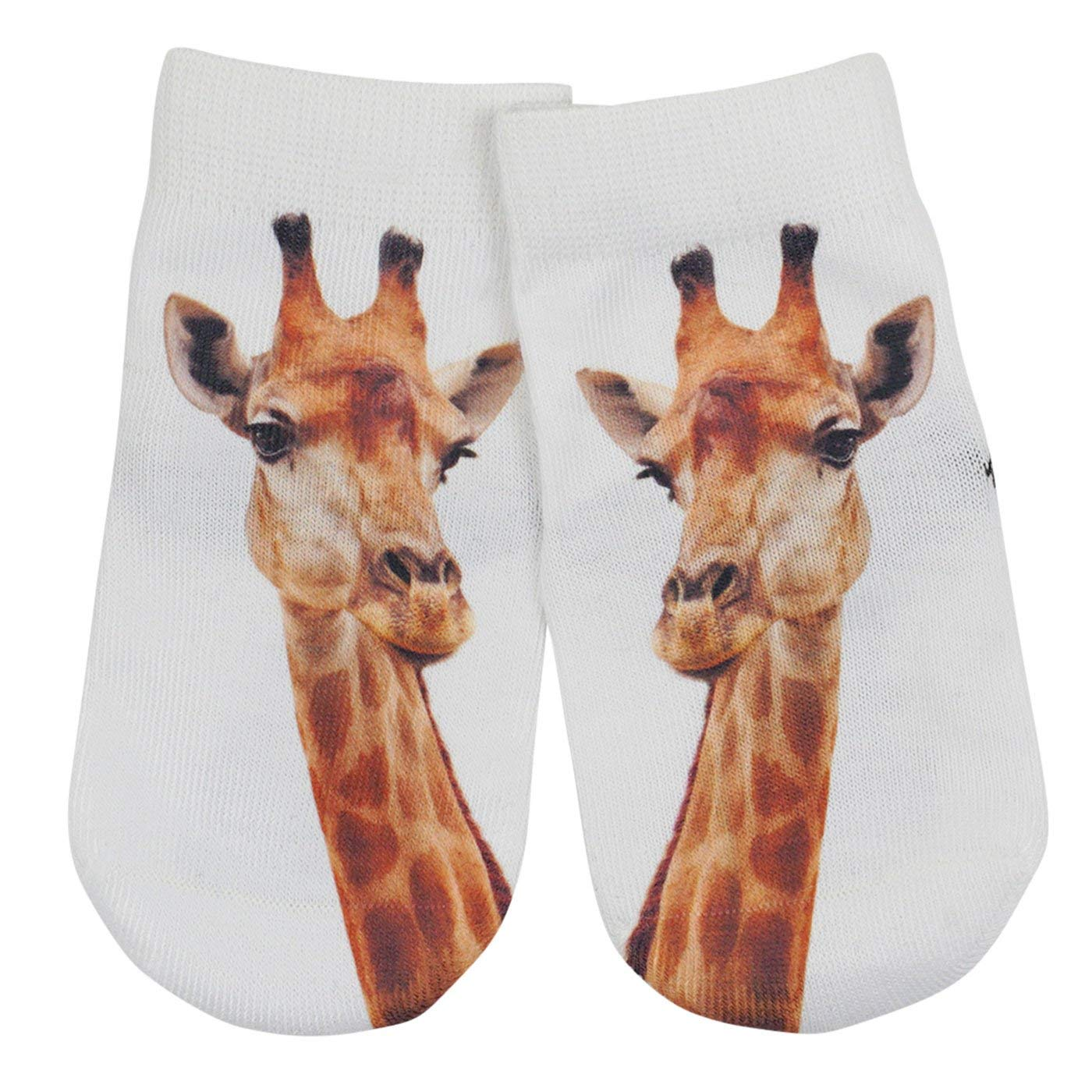 Mens Athletic Low Cut Ankle Sock Cute Baby Giraffe Colorful Giraffe Yellow Short Comfort Sock